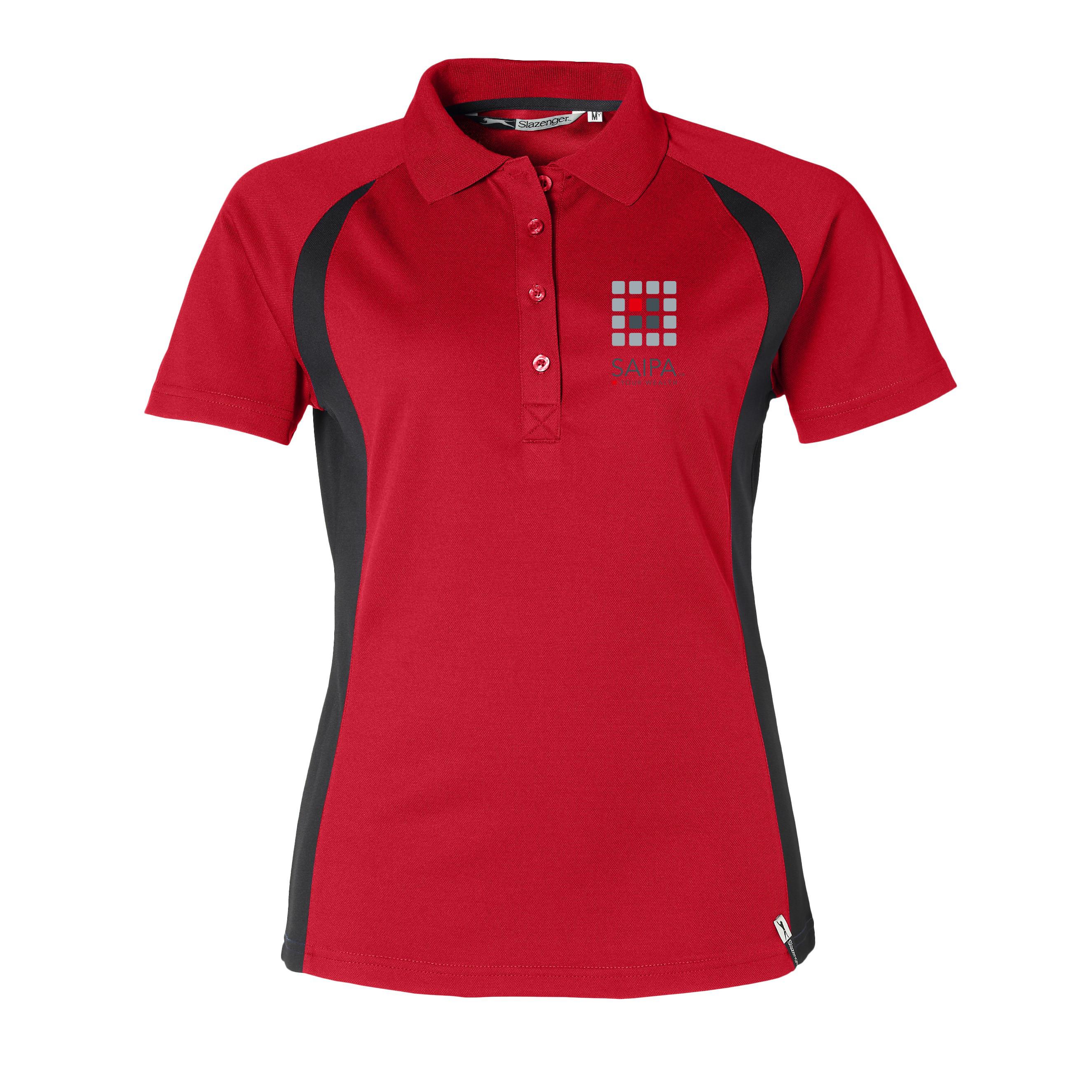 golf shirt ladies red saipa