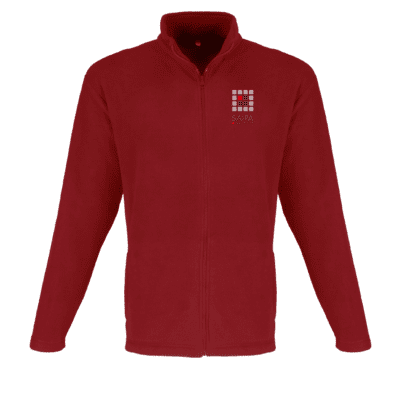 Jacket Micro Fleece Mens Red