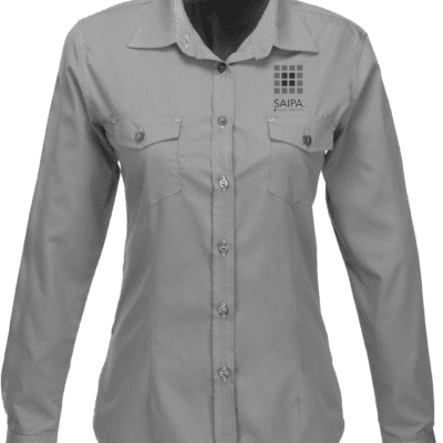 Shirt Ladies Long Sleeve Grey