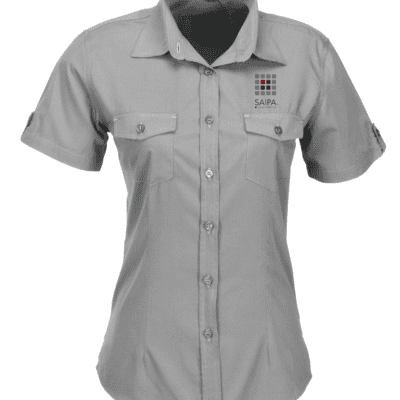 Shirt Ladies Short Sleeve Grey