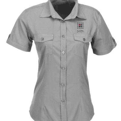 Shirt Ladies Short Sleeve Grey