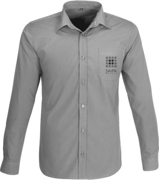 Shirt Mens Long Sleeve Grey