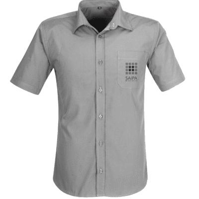 Shirt Mens Short Sleeve Grey