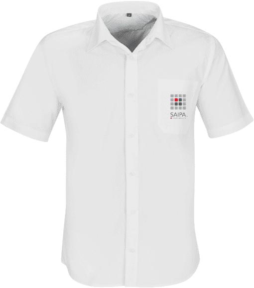 Shirt Mens Short Sleeve White