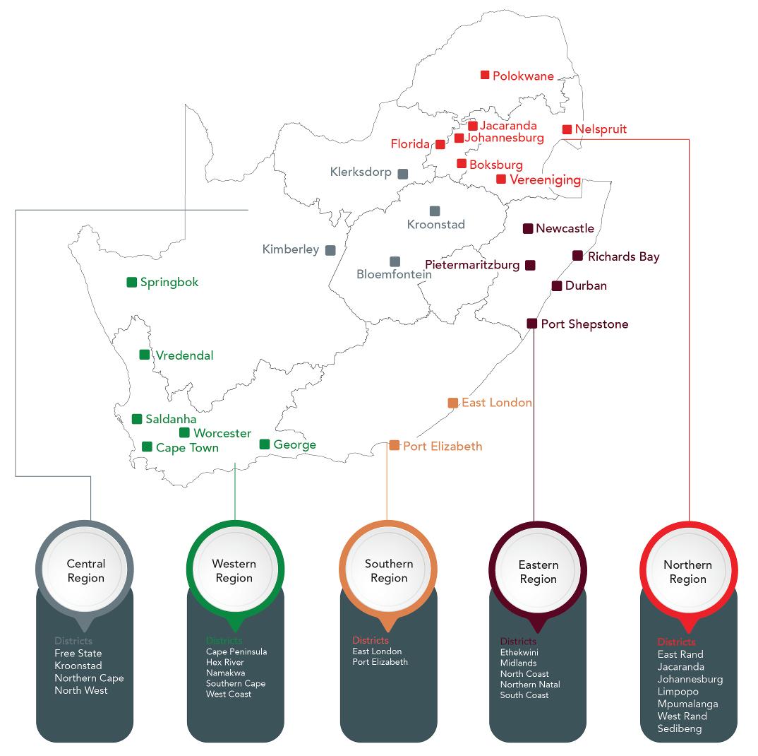 SAIPA Regional Map